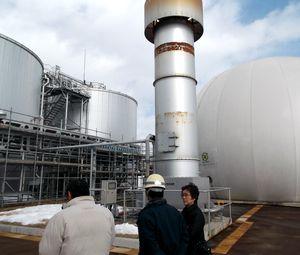 長岡 発酵槽、ガスタンク