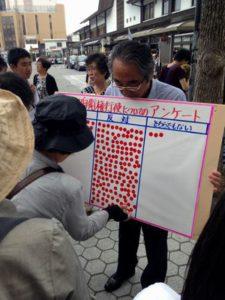 集団的自衛権シール投票5月29日