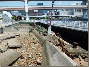阪神大震災 沈んだ護岸 残されている